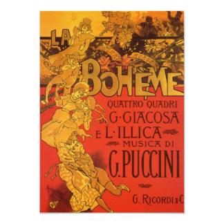 De vintage Uitnodiging van La Boheme van de Muziek