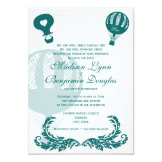 De vintage Uitnodigingen Aqua van het Huwelijk van