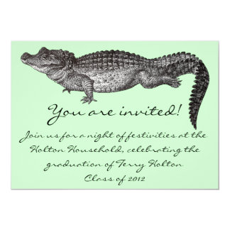 De vintage Uitnodigingen van de Krokodil