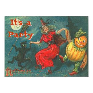 De vintage Uitnodigingen van Halloween
