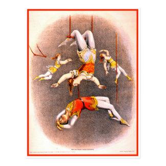 De vintage Uitvoerders van de Trapeze van het Briefkaart