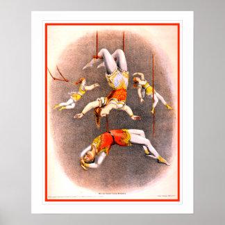 De vintage Uitvoerders van de Trapeze van het Poster