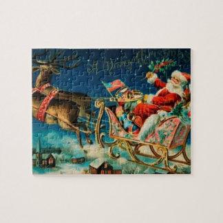 De vintage Vakantie van Kerstmis van de Ar van de Puzzels