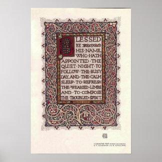 De vintage Verlichte Tekst van Kunsten en van Poster