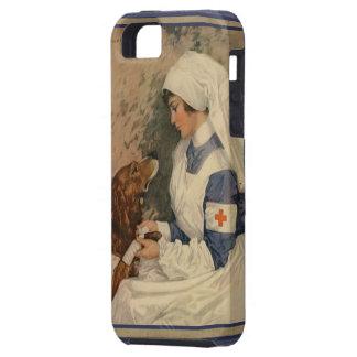 De vintage Verpleegster van het Rode Kruis met de Tough iPhone 5 Hoesje