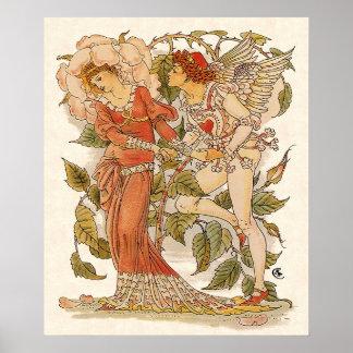 De vintage Victoriaans Kunst, nam met Walter Crane Poster