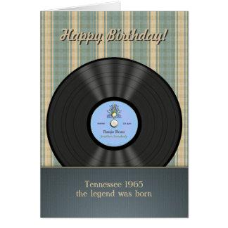 De Vintage VinylVerslag Gepersonaliseerde Kaarten