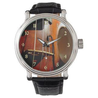De Vintage Viool van de muziek met het Gouden Horloge