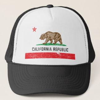 De vintage Vlag van Californië Trucker Pet