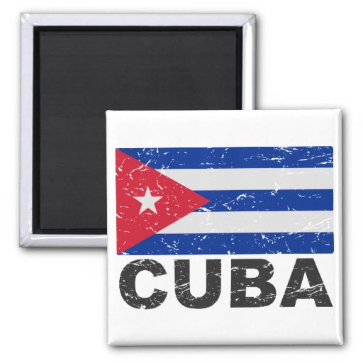 De Vintage Vlag van Cuba Magneet