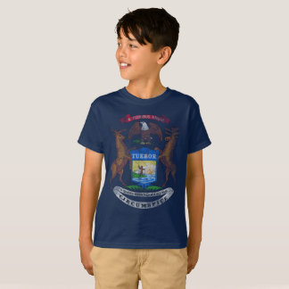 De vintage Vlag van de Staat van Michigan T Shirt