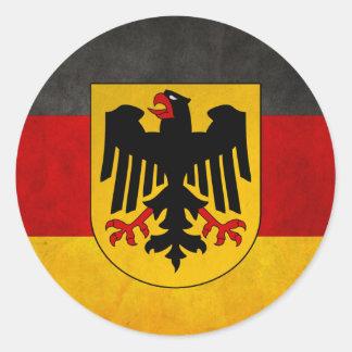 De vintage Vlag van Deutschland van de Vlag van Ronde Sticker