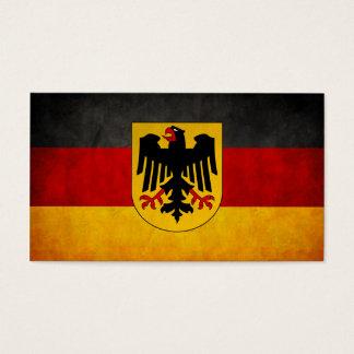 De vintage Vlag van Deutschland van de Vlag van Visitekaartjes