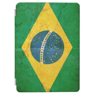 De vintage Vlag van Grunge Brazilië iPad Air Cover
