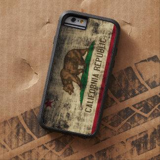 De vintage Vlag van Grunge Californië Tough Xtreme iPhone 6 Hoesje