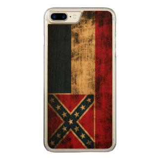 De vintage Vlag van Grunge de Mississippi Carved iPhone 7 Plus Hoesje