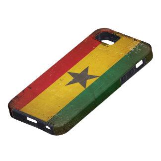 De vintage Vlag van Grunge Ghana