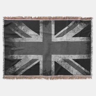 De vintage Vlag van Grunge het UK Deken