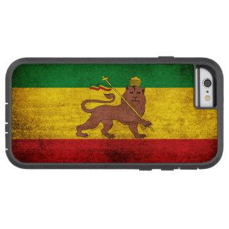 De vintage Vlag van Grunge Rastafarian Tough Xtreme iPhone 6 Hoesje