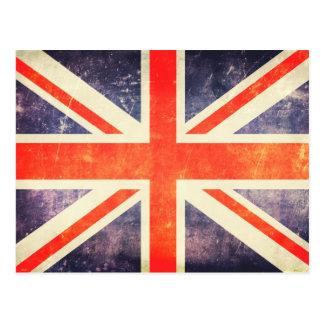 De vintage vlag van Union Jack Briefkaart