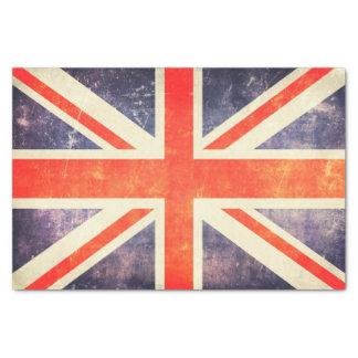 De vintage vlag van Union Jack Tissuepapier