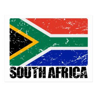 De Vintage Vlag van Zuid-Afrika Briefkaart