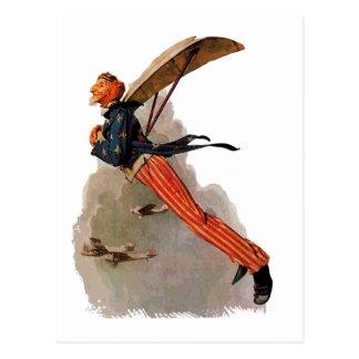 De vintage Vliegende giften en de groeten van Oom Briefkaart