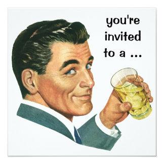 De vintage Volwassen Mannelijke Uitnodiging van de