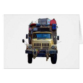 De vintage Vrachtwagen van de Expeditie van de Kaart
