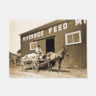 De vintage Wagen van het Paard van de Landbouw van Deurmat