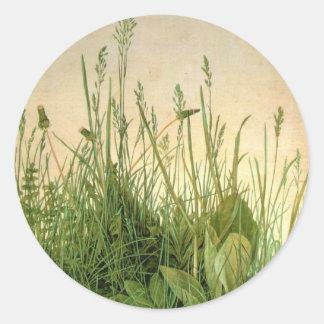 De vintage Wild Grass Round Sticker van Albrecht