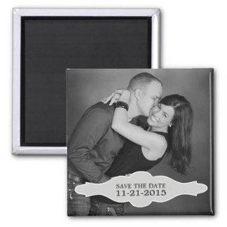 De vintage Witte Foto van LaBon Vie bewaart de Mag Koelkast Magneet