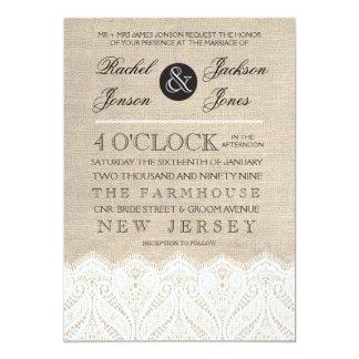 De vintage Witte Uitnodiging van het Huwelijk van 12,7x17,8 Uitnodiging Kaart