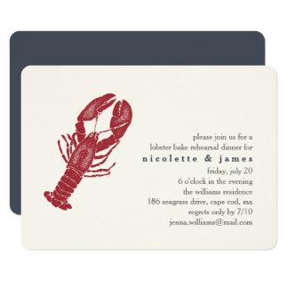 De vintage Zeekreeft bakt de Uitnodiging van het