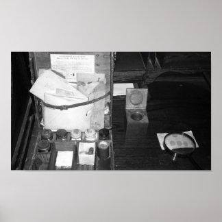 De vintage Zwart-witte Uitrusting van de Poster