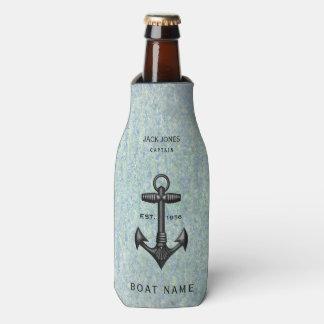 De vintage Zwarte Kapitein van de Boot van de Flesjeskoeler