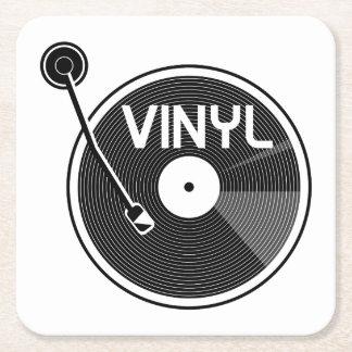 De vinyl Draaischijf van het Verslag Vierkante Onderzetter