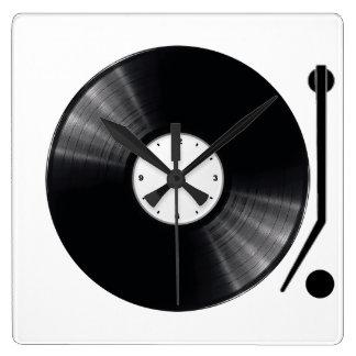 De vinyl Klok van de Muur van het Verslag