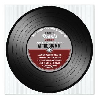 De vinyl Uitnodiging van de Partij van de