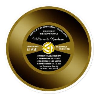 De vinyl Uitnodiging van de Partij van het