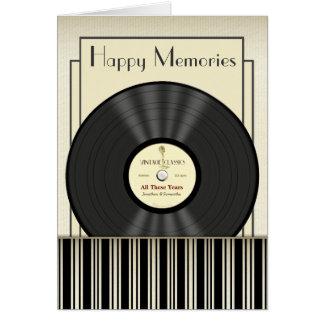 De VinylVerslag Gepersonaliseerde Kaarten van de