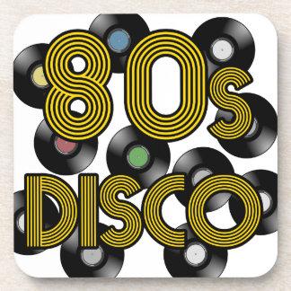 de vinylverslagen van de de jaren '80disco drankjes onderzetters