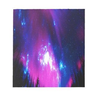 De violetkleurige Hemel van de Winter Notitieblok