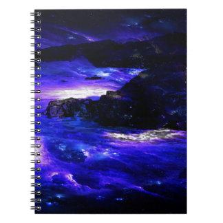 De violetkleurige Indische Dromen van de Saffier Ringband Notitieboek