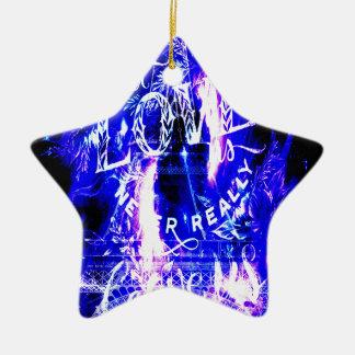 De violetkleurige Saffier Parijs droomt Degenen Keramisch Ster Ornament
