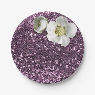 De violetkleurige Witte Jasmijn van de Paarse Papieren Bordjes