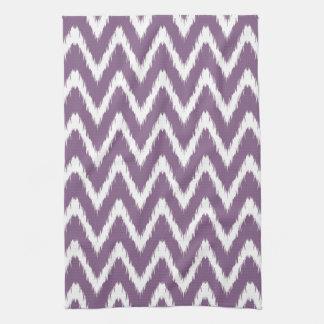 De violette Aziatische Chevrons van Ikat van Theedoek