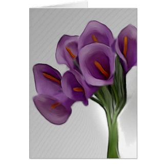 De violette Calla Kaart van Lilly
