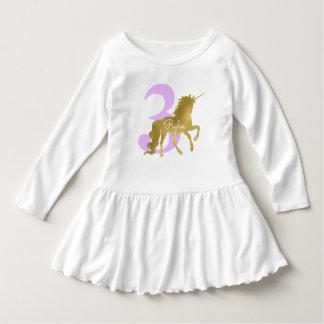 De violette en Gouden Verjaardag van de Mijlpaal Baby Jurk
