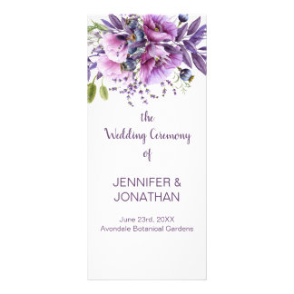 De violette Paarse Lavendel bloeit het Programma Reclamekaart